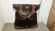New Billabong Large Faux Leather Tote Shopper Book Bag