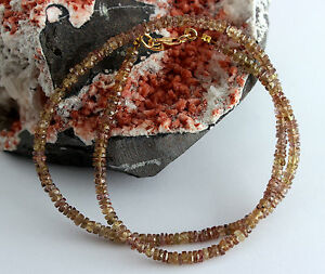 Color Change Garnet Necklace Gemstone Facetted Rondelle Jewelry 45 CM