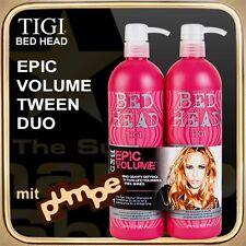 Epic Volume Shampoo Conditioner (2x750ml) Bed Head Tigi Tween Duo (with Pump)