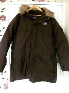 THE NORTH FACE MENS BROWN PADDED PARKA COAT