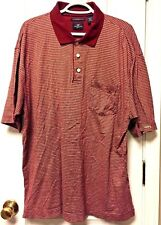 Dockers Golf Men's Polo Shirt L Mercerized Cotton Burgundy Print