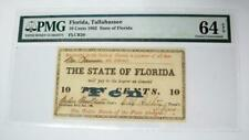 1863 Tallahassee Fractional Currency * Ten Cents * Pmg 64 * Choice Uncirculated