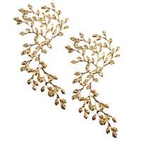 2pcs Elegante Brauthaarschmuck Blume Kopfbedeckung Hochzeit