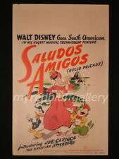 SALUDOS AMIGOS (Hello Friends) 1943 Donald Duck Cartoon Poster