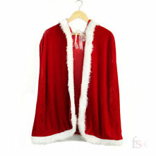 Santa Claus Little Red Riding Hood Cape Christmas Costume Party Fancy Dress 1M