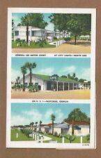 Waycross,GA Georgia, General Lee Motor Court, and Cafe 3 views 1 card