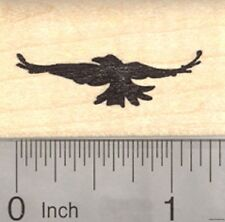 Crow in Flight Rubber Stamp, Silhouette B22515 WM