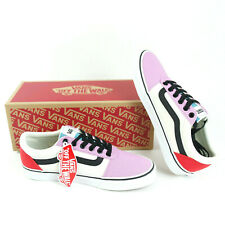 VANS Ward Women's Skate Shoes US Size 7 Lace Up EUR 37 Orchid Red Pink New