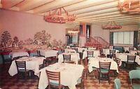 Vicksburg MS~Hotel Vicksburg~Inside View~Dining Area~Wall Mural~1960s Postcard