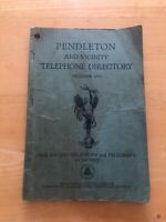 Rare Vintage 1950 PENDLETON and Vicinity Telephone Directory (Pacific T & T Co)