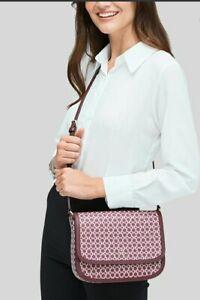 NWT Kate Spade Saddle Bag Spade Link Print Pink Multi  (WKR00189)