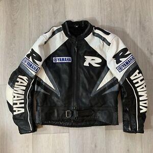 Yamaha Leather Motorcycle Jacket R Series Size 3XL Black White