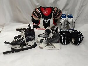 Bauer Ice Hockey Gear Protective Hockey Skaters Children Kids Pre-owned