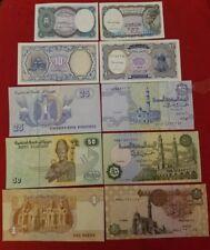 ***EGYPT 5 PAPER MONEY RARE (UNC) EGYPTIAN NOTES COLLECTIAN SET*** Free Shipping