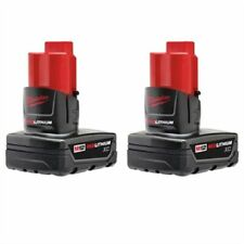 Milwaukee 48-11-2412 M12 12-Volt Lithium-Ion XC Extended Capacity Battery 3.0Ah – Pack of 2