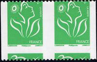 """FRANCE N° 3742a NEUF** Variétés """"PAIRE ↔ PIQUAGE A CHEVAL ↕ SANS N° NOIRS"""" SIGNÉ"""