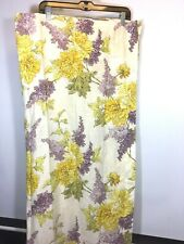 Laura Ashley Curtain Panel Pair Purple Yellow Floral Lilac 84 X 41 pocket rod