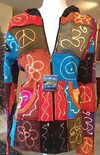 Boho Sweater Top Shangri La Nook Hoodie Medium Large Hippie Bell Sleeves Peace