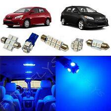 6x Blue LED lights interior package kit for 2009-2013 Toyota Matrix TM1B