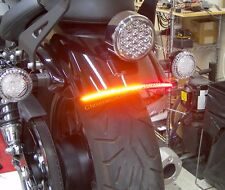 Yamaha Bolt Red LED Fender Eliminator Turn Signal Light Bar Kit - Smoke Lens