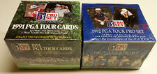 1991 1992 Boîtes de golf Pro Set PGA Tour Lot John Daly RC Snead Nicklaus Singh