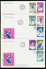 1984 Sarajevo Olympics,Ice hockey,Biathlon,Bobsled,Luge,Ski,Romania,Mi.4003,FDC