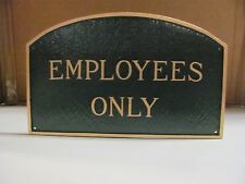 Montague Metal Products 13 by 21-Inch 'Employees Only' Arch Plaque Sign