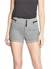 GUESS Shorts Women's High Rise Ponte Stretch Button & Zip Shorts M Grey NWT