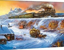 Jigsaw puzzle Train Winterscape Coyote Special 1000 piece NEW