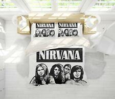 3D Nirvana Rock Band Quilt Cover Set Pillowcases Duvet Cover 3pcs Bedding Set 60