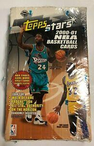 2000-01 TOPPS STARS NBA BASKETBALL HOBBY BOX (24 PACKS / 6 CARDS PER PACK)