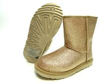 New Ugg Boots Kids classic short Ii Glitter Gold Youth size 3.0