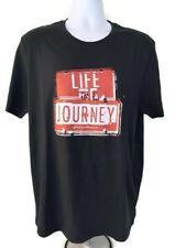 Giordano  Men's T-Shirt  Graphic  Life Journey  Navy Blue  Size XL  NEW