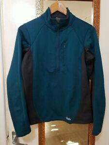 Rab Polartec Wmn's PS Zip Top Power Stretch Pullover Jacket Fleece Womens size14