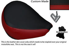 BLACK & DARK RED CUSTOM FITS YAMAHA XVS 650 CLASSIC V STAR FRONT SEAT COVER