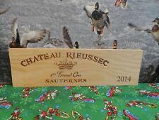 2014 CHATEAU RIEUSSEC ROTHSCHILD SAUTERNES WOOD WINE PANEL END
