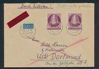 Berlin 1951, Mi. 79 auf Brief, portorichtige MeF auf Eilbrief, Mi. 280,-€