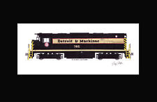 """Detroit & Mackinac C425 #381 11""""x17"""" Matted Print Andy Fletcher signed"""