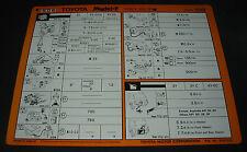 Inspektionsblatt Toyota Model F Typ YR 21 22 31 Werkstatt Service Blatt 10/1988