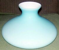 "10"" GLASS SHADE BLUE CASED TAM O SHANTER  fits oil kerosene lamp Aladdin"