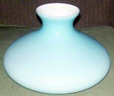 """10"""" GLASS SHADE BLUE CASED TAM O SHANTER  fits oil kerosene lamp Aladdin"""
