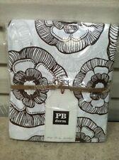 Pottery Barn Teen PBT Bed Dorm Mini Fleur Flower Organic Duvet Cover Twin coffee