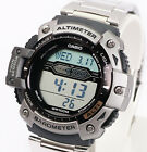 Casio Altimeter Thermometer World Time Steel Band Watch SGW-300HD-1 New