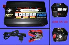 1500W Watts 3000W(peak) 12v to 220v Power Inverter+Charger & UPS For Solar/Wind