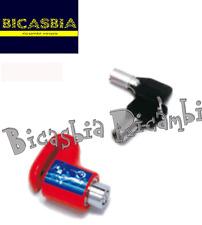 6945 - BLOCCADISCO CON PIOLO 6 MM SENZA BORSA PIAGGIO SCOOTER - BICASBIA