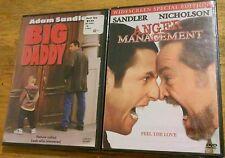 Lot of 2 Adam Sandler Dvds Movies Big Daddy & Anger Mangement Brand New Sealed