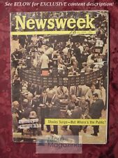 NEWSWEEK April 29 1963 4/29/63 Wall Street Stocks Surge Laos Cuba NFL Betting