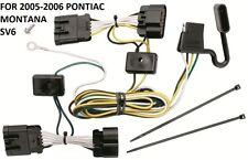 2005-2006 PONTIAC MONTANA SV6 TRAILER HITCH WIRING KIT HARNESS PLUG & PLAY T-ONE