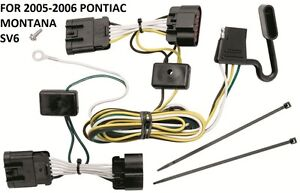 2005-2006 PONTIAC MONTANA SV6 TRAILER HITCH WIRING KIT HARNESS PLUG & PLAY T-ONE