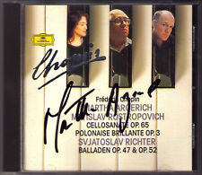 ARGERICH Signed CHOPIN Rostropovich Sviatoslav Richter Cello Sonata Ballade CD